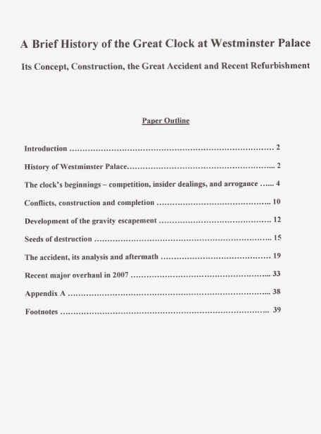 Dissertation outline chapter